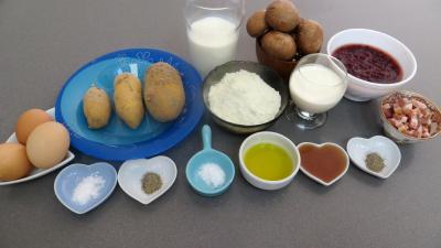 Ingrédients pour la recette : Crêpes aux airelles