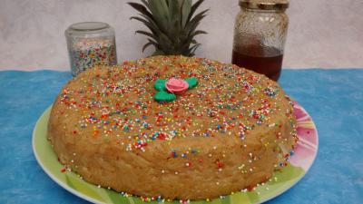 cannelle : Gâteau de riz aux ananas