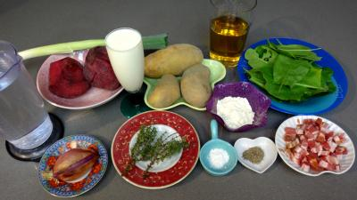 Ingrédients pour la recette : Potage de betteraves