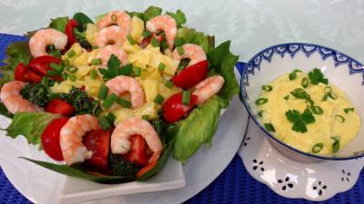 salades composées : Salade d'ananas et crevettes