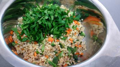 Salade de blé aux blancs de poulet - 6.3
