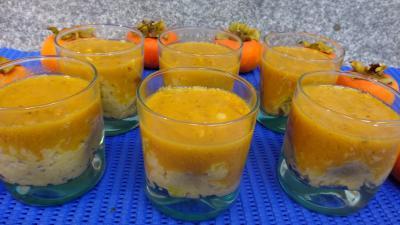 vanille liquide : Verrines de kakis au riz