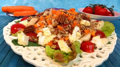 Entrées & salades : Salade de brie et poires