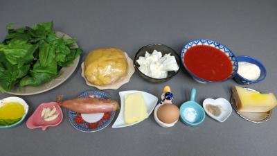 Ingrédients pour la recette : Cannellonis à la brousse
