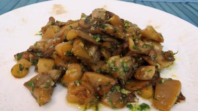 Légumes : Assiette de pleurotes à l'ail et au persil