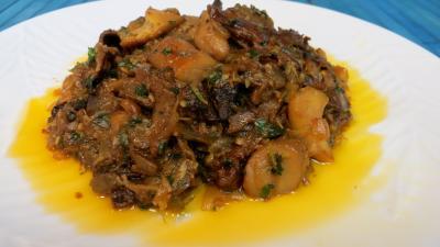 Image : Assiette de cèpes à la bordelaise