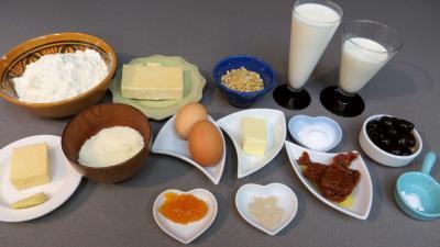 Ingrédients pour la recette : Cake au Cheddar