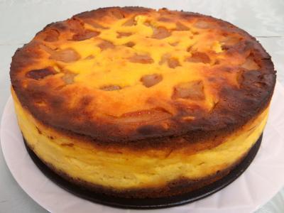 Amande effilée : Cheese cake aux poires