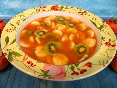 Recette Soupe de kakis aux fruits