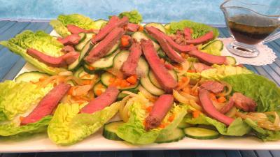 Recette Concombre et sa salade de bœuf