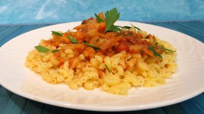 chou-fleur : Assiette de coquillettes à la bûcheronne