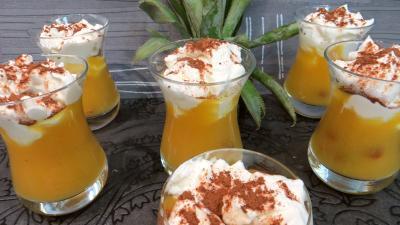 Recette Verrines d'ananas à la crème