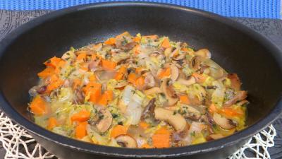 Image : Chou chinois et légumes