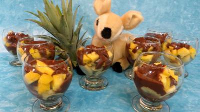 Dessert au chocolat : Verrines de bananes façon créole