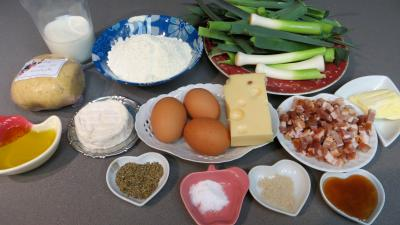 Ingrédients pour la recette : Clafoutis aux poireaux