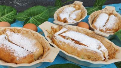 farine : Cassolettes de pannequets aux fruits confits
