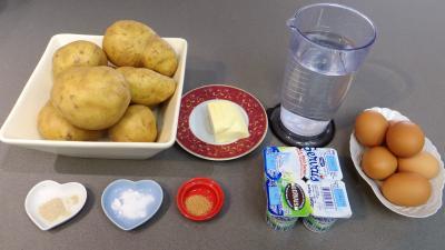 Ingrédients pour la recette : Pommes de terre façon petits pains