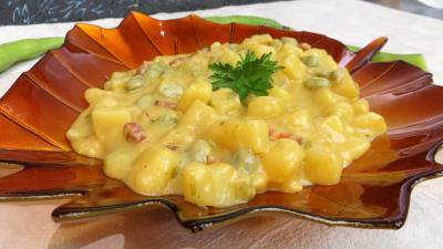 Image : Crème de fèves au lard