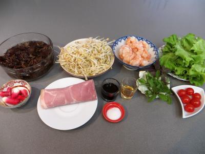 Ingrédients pour la recette : Salade chinoise aux radis roses
