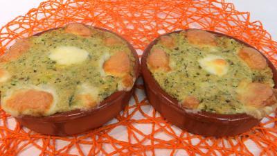 plat sucré salé : Cassolettes de courgette aux fromages