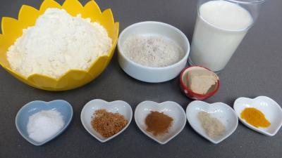 Ingrédients pour la recette : Pains aux épices
