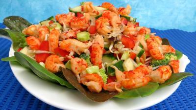 Cuisine diététique : Plat de haricots mungo en salade