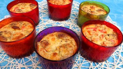 Recette Flans aux poivrons et champignons