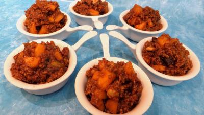 Dessert avec alcool : Coupelles de couscous façon orientale