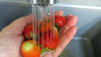 Abricots et fraises à la crème de miel - 1.3