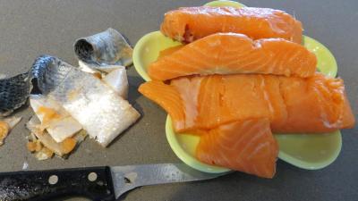 Gâteau d'omelette au saumon - 2.1
