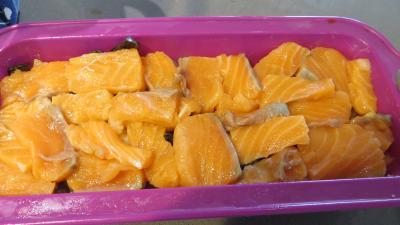Gâteau d'omelette au saumon - 6.1