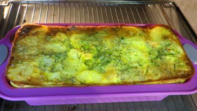 Gâteau d'omelette au saumon - 7.1