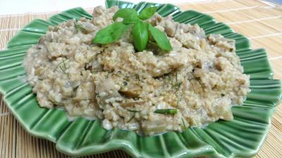 Recette Aubergines au couscous