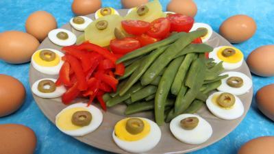 Cuisine diététique : Assiette de salade provençale