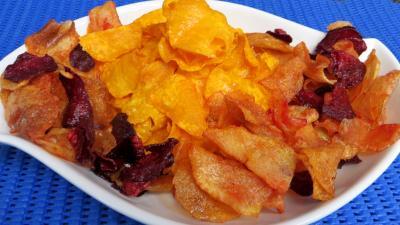 Recette Patates douces et légumes frits