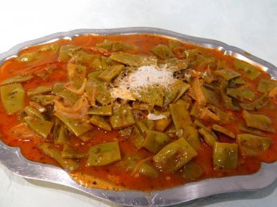 Légumes : Plat de haricots plats à la vénitienne