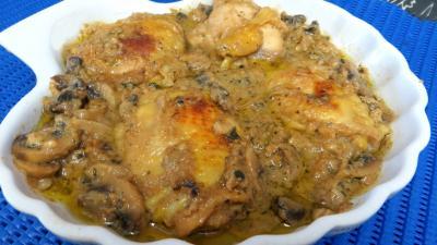 plat complet : Plat de blancs de poulet aux cachuètes