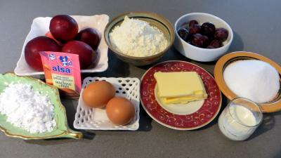 Ingrédients pour la recette : Gâteau aux nectarines
