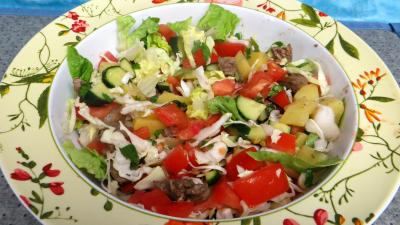 Cuisson à la casserole : Saladier de tomates en salade