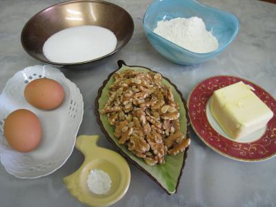 Ingrédients pour la recette : Gâteau aux noix pour Renée