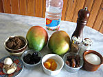 Ingrédients pour la recette : Chutney aux mangues