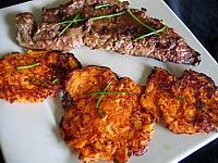 Foie de veau : Galettes de carottes au foie de veau