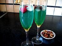 Photo : Cocktail valentin au champagne