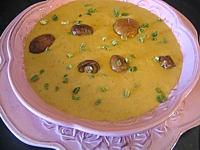 crème de cèpes au curry