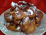Recette Assiette de beignets aux raisins secs et fruits confits