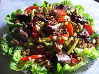 Recette Assiette de foies de volaille en salade
