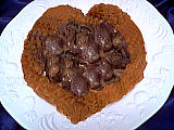 Coeur de canard : Assiette de coeurs de canard au paprika