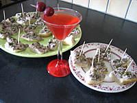 Recette Assiettes de canapés de focacia au thon