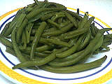 légume à la vapeur : Assiette d'haricots vapeur