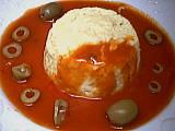 Sauce tomates aux olives : Petits flans aux courgettes et au basilic
